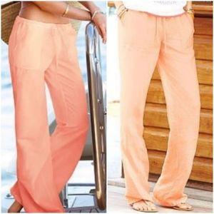 Victoria's Secret Linen Beach Pants Sz 4 Short
